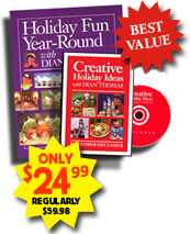 Dian's Holiday Fun book AND Creative DVD